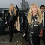 Lady Gaga rocking  Leather – Arrives at a Recording Studio in North London November 2015