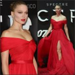 Lea Seydoux In Miu Miu  At  'Spectre' Mexico City Premiere