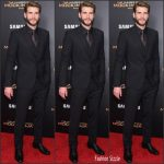 Liam Hemsworth  in Dolce & Gabbana –  Hunger Games Mockingjay -Part 2 New York Premiere
