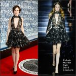 Lily Collins In Zuhair Murad Couture  At 2016 Breakthrough Prize Ceremony