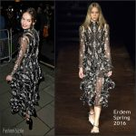 Lily James In Erdem At 2015 Harper's Bazaar Women of the Year Awards