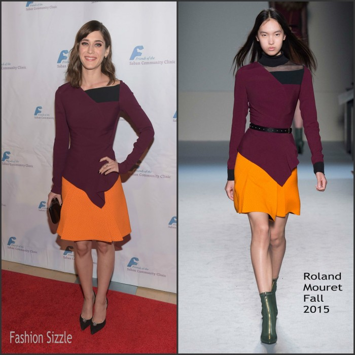 Lizzy Caplan in Roland Mouret -  Saban Community Clinic's 39th Annual Dinner Gala