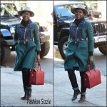 Lupita Nyong'o  arrives  at Public Theater in New York  November 2015