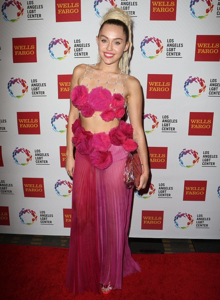 Miley -Cyrus -in -Ulyana -Sergeenko -Couture- at- the- 46th -Anniversary- Gala -Vanguard -Awards