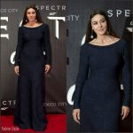Monica Bellucci In Azzedine Alaïa At 'Spectre' Mexico City Premiere