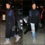 Rihanna in Celine  & Miu Miu – Out In New York