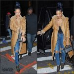 Rihanna  In Chanel  coat– Fight Night  in New York