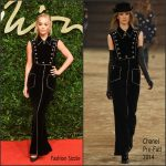 Rita Ora In Chanel  At  2015 British Fashion Awards