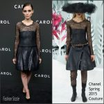 Rooney Mara In Chanel   – Carol New York  Premiere