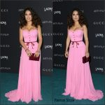Salma Hayek In Gucci – LACMA 2015 Art+Film Gala Honoring James Turrell And Alejandro G Inarritu in Los Angeles