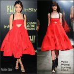 Sarah Hyland in Vera Wang – HFPA And InStyle Celebrate The 2016 Golden Globe Award Season