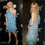 Sienna Miller In Saint Laurent  At 24th Montblanc De La Culture Arts Patronage Awards