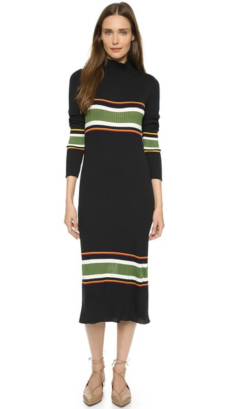 suno-thick-stripe-rib-knit-dress