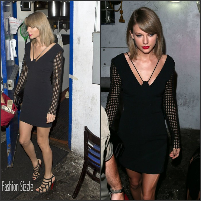 Taylor Swift in David Koma  leaving  The Little Door In West Hollywood
