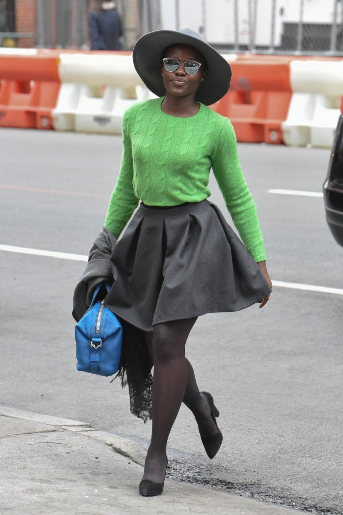 Lupita- Nyongo spotted-at-public-theater-in-new-york-november-2015