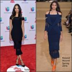 Zoe Saldana  In Roland Mouret –  2015 Latin Grammy Awards