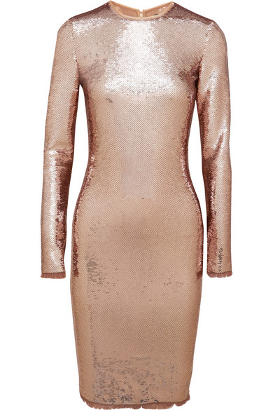 Lala-Anthonys-Chiraq-New-York-Premiere-Tom-Ford-Rose-Gold-Sequined-Tulle-Dress