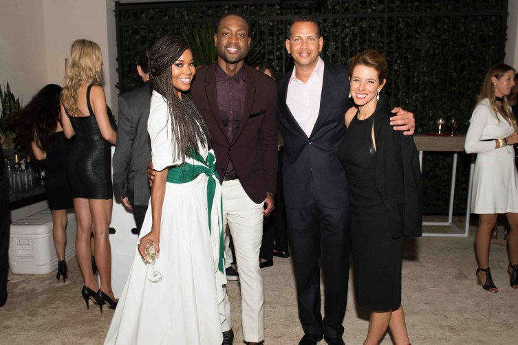 Gabrielle-Union-Dwyane-Wade-Alex-Rodriguez-and-guest-753x502