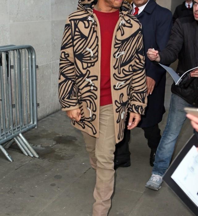 Lewis Hamilton In Louis Vuitton -  BBC studio in London