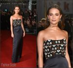 Alicia Vikander In  Louis Vuitton – 'The Danish Girl'  London Premiere