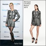 Anna Faris in Monique Lhuillier At The Mashable Shop Launch Event