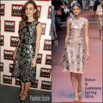 Carey Mulligan In Dolce & Gabbana  At The War Child Winter Wassail