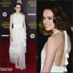 Daisy Ridley In Chloé  At 'Star Wars: The Force Awakens' LA Premiere