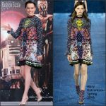 Daisy Ridley In Mary Katrantzou At  'Star Wars: The Force Awakens' Urayasu Press Conference