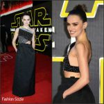Daisy Ridley In Roland Mouret  At 'Star Wars: The Force Awakens' London Premiere