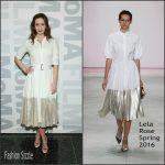 Emily Blunt In Lela Rose  At  MOMA Film's The Contenders Screening of 'Sicario'