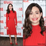 Emmy Rossum  In  Salvatore  Ferragamo – Hosts 'Hot Chocolate for a Cause' benefit in New York