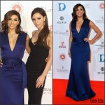 Eva Longoria and Victoria Beckham In Victoria Beckham At  The Global Gift Gala London
