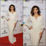 Eva Longoria in Ali Younces Couture -2015 Dubai International Film Festival