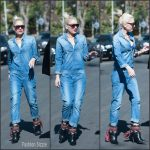 Gwen Stefani rocks denim jumpsuit – Out In La