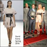 Gwyneth Paltrow In David Koma  At  Rob Lowe Honored With Star On The Hollywood Walk Of Fame