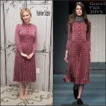 Kirsten Dunst In Gucci At  AOL BUILD Series for 'Fargo'