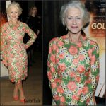 Helen Mirren in Dolce & Gabbana at the 'Woman in Gold' Cocktail Reception