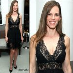 Hilary Swank In Elie Saab  At  Annual Art Basel Miami Kick-Off Party
