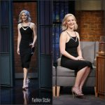 Jennifer Lawrence  In Mugler-   Late Night With Seth Meyers in New York City, December 15 2015