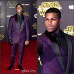 John Boyega  in Versace – At 'Star Wars: The Force Awakens' LA Premiere