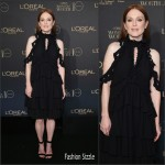 Julianne Moore In Alexander McQueen AT  L'Oreal Paris Women of Worth 2015 Celebration