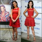 Katie Holmes in Azzedine Alaia at her Ocean Drive Magazine Cover celebration – Art Basel in Miami