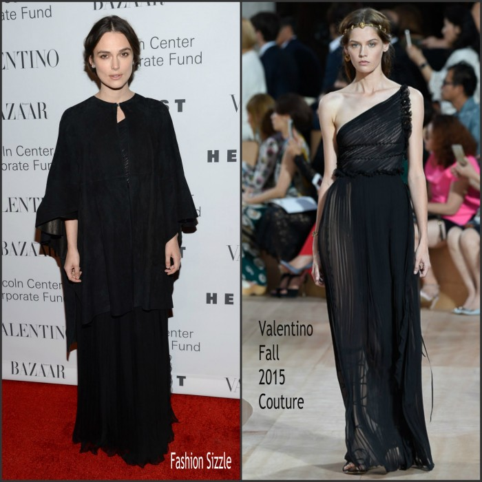 Keira Knightley  In Valentino - at An Evening Honoring Valentino