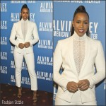 Kelly Rowland  stuns in  white Akris  suit – Alvin Ailey American Dance Theater's 'Opening Night Gala' benefit in Newark