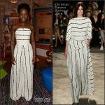 Lupita Nyong'o in Christian Siriano on 'Despierta America'