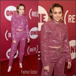 Miley Cyrus  in Christian Cowan-Sanluis –  ONE & (RED)'s 'It Always Seems Impossible Until It Is Done' Celebration