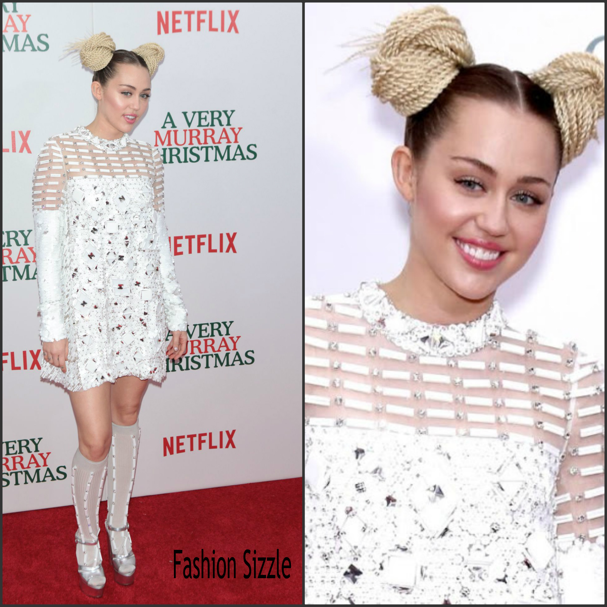 Miley Cyrus in Prada at the 'A Very Murray Christmas' New York ...