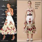 Naomie Harris In Alexander McQueen – OMEGA And Naomie Harris Celebrate The Release Of 'Spectre'