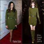 "Nina Dobrev in Elie Saab at ""The Beauty Book For Brain Cancer"" Edition 2 Launch Party"
