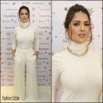 Salma Hayek attends  Charlotte Tilbury's Flagship Boutique Launch in London